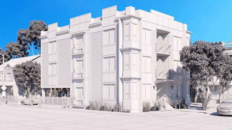 3d architectural modeling service rendering scale models
