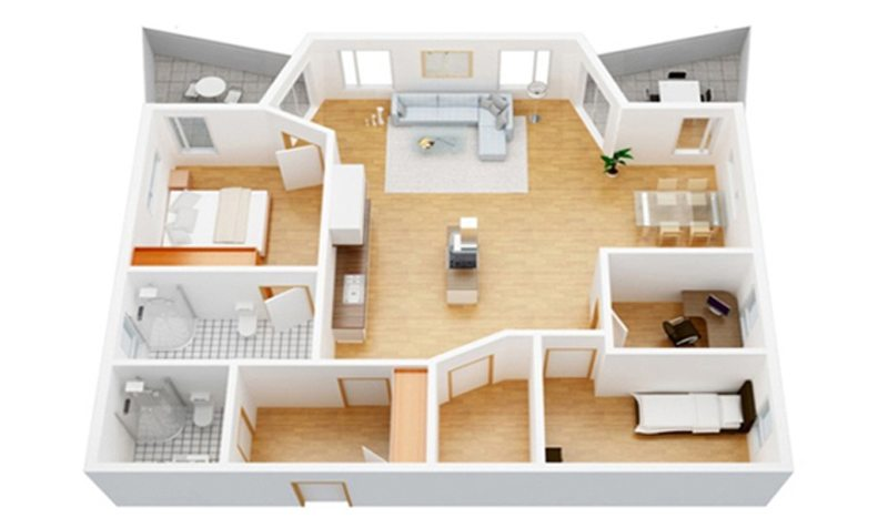 rendering service floor plan 3d - 3d Floor Planning