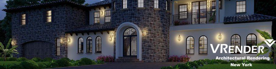 family house rendering