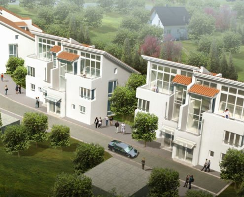 Residential complex rendering