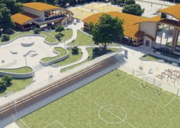 Sports complex 3D visualization