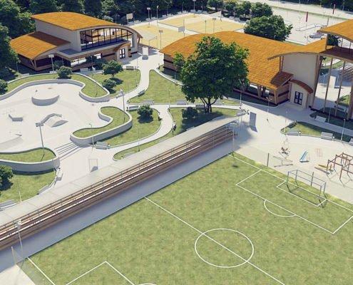 Sports complex 3D visualization