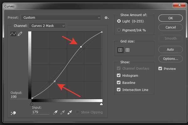 rendering color curve