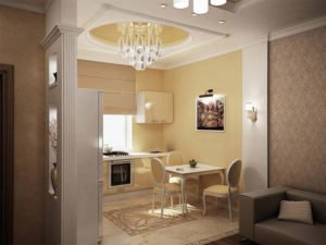 3D visualization of an apartment in a classic style