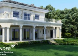 3D visualization of the country house interior