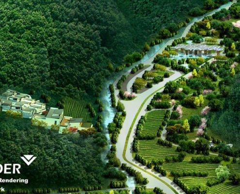 Suburban residential complex
