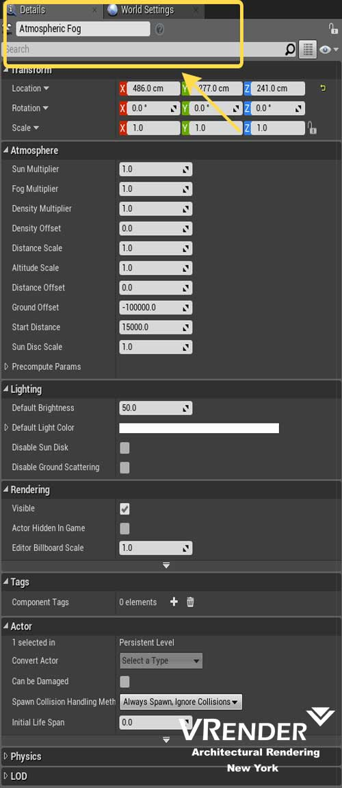 Unreal Engine 4 Architectural Visualization Settings