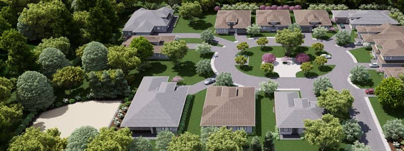 3d architectural site plan rendering