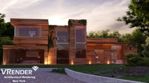 residential structures 3d rendering