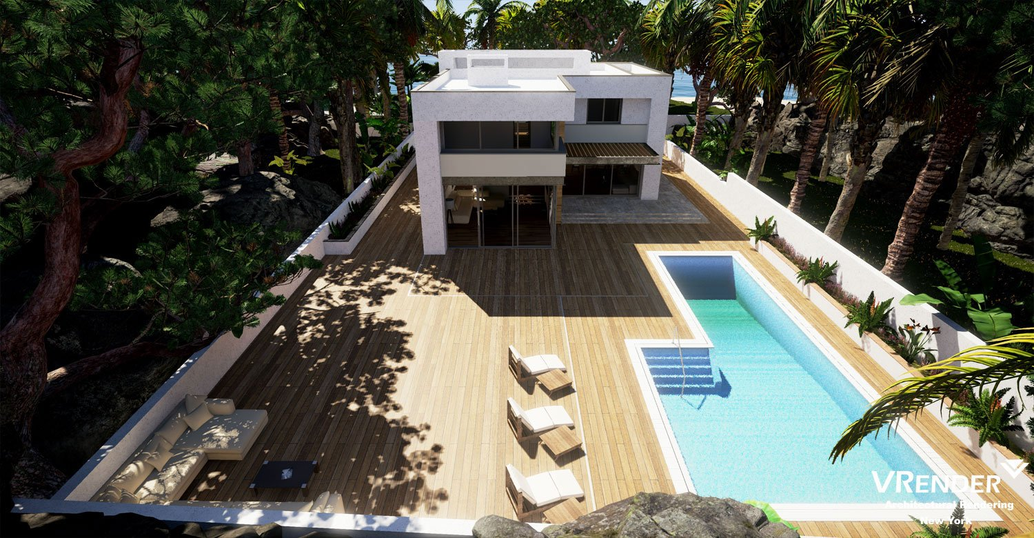 swimming pools 3d visualization