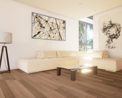 3d Interior Rendering Furnished Home Apartment