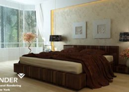 Bedroom Interior 3D Rendering Philadelphia