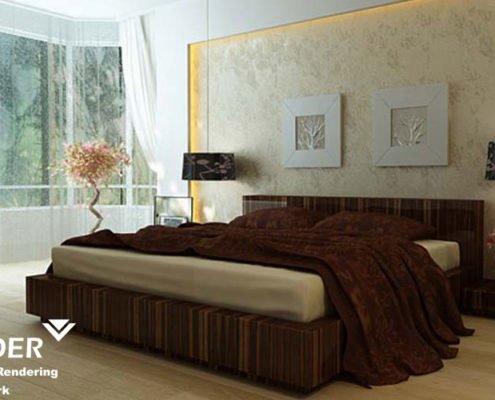 Bedroom Interior 3D Rendering Philadelphia
