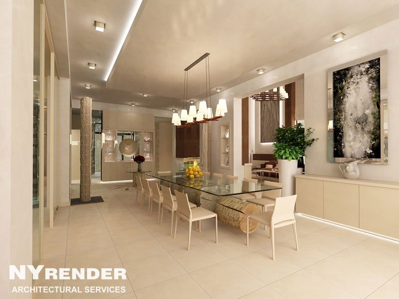 Living Room Rendering Washington