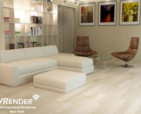 New York Apartment 3d Rendering Project