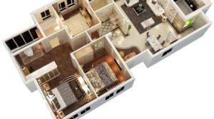 Residential Apartment 3D Rendering in Baltimore