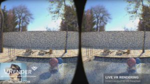 Live VR rendering