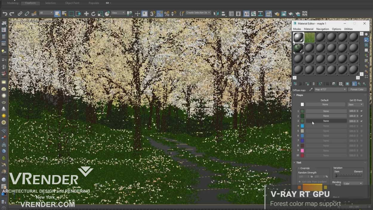 VRAY RT GPU Forest Map Support