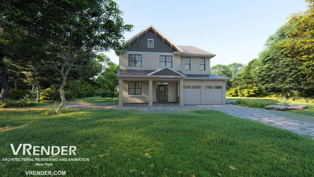 Vrender-3D Exterior Residential Rendering, Animation and Design