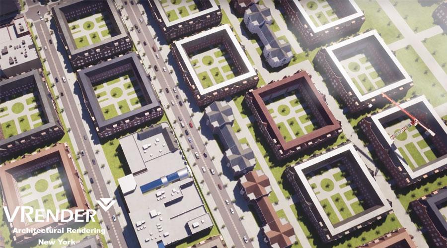 virtual walk-through the residential complex