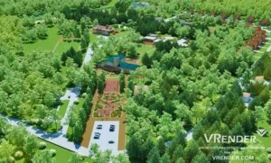3D Visulaze University Campus