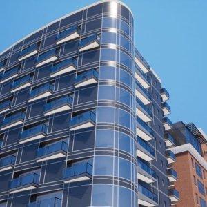 building exterior 3D presentation
