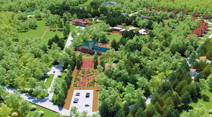 Site Plan rendering Rendering Michigan