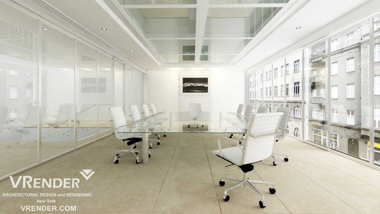 office-Interior-rendering 3d