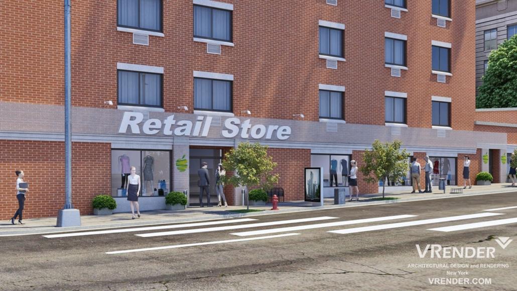 Retail Design 3d Rendering
