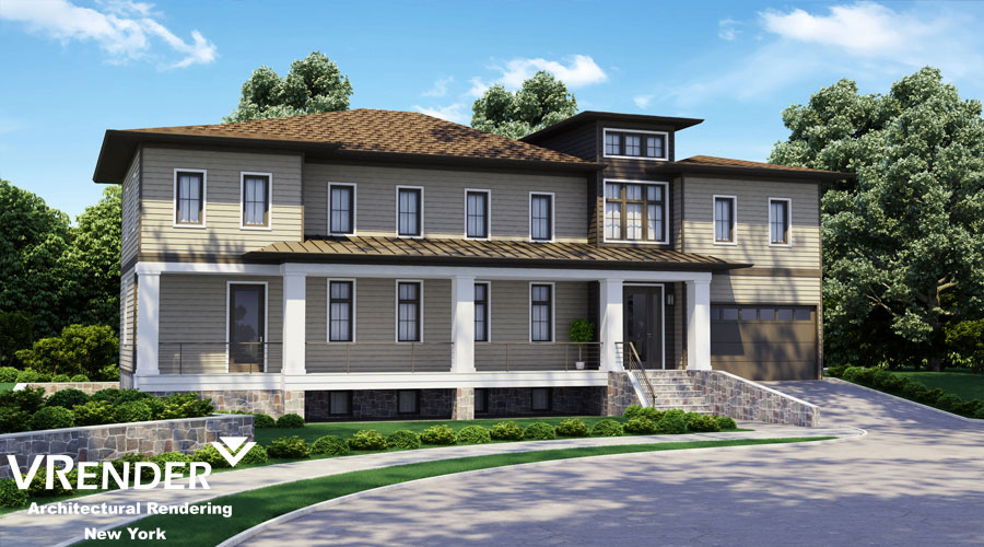 design of the facade of the house