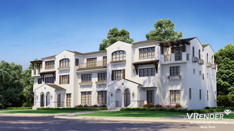 house facade 3d visualization