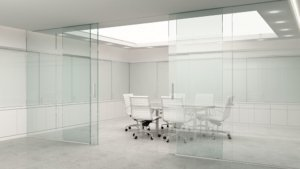 Office Glass Panels and Walls Rendering