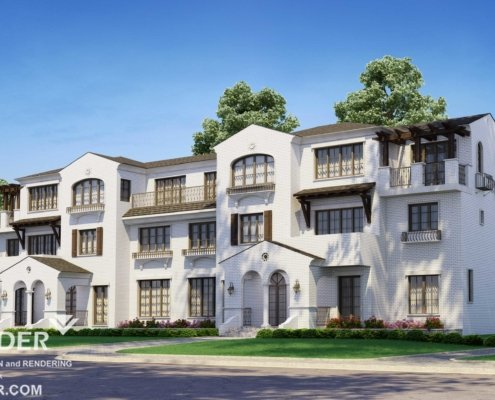 Residential 3d exterior rendering services