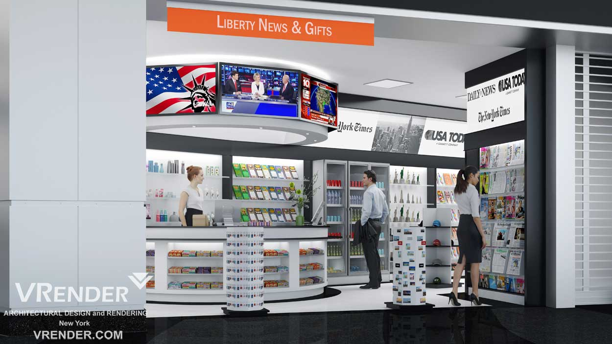 commercial interior 3d rendering New York