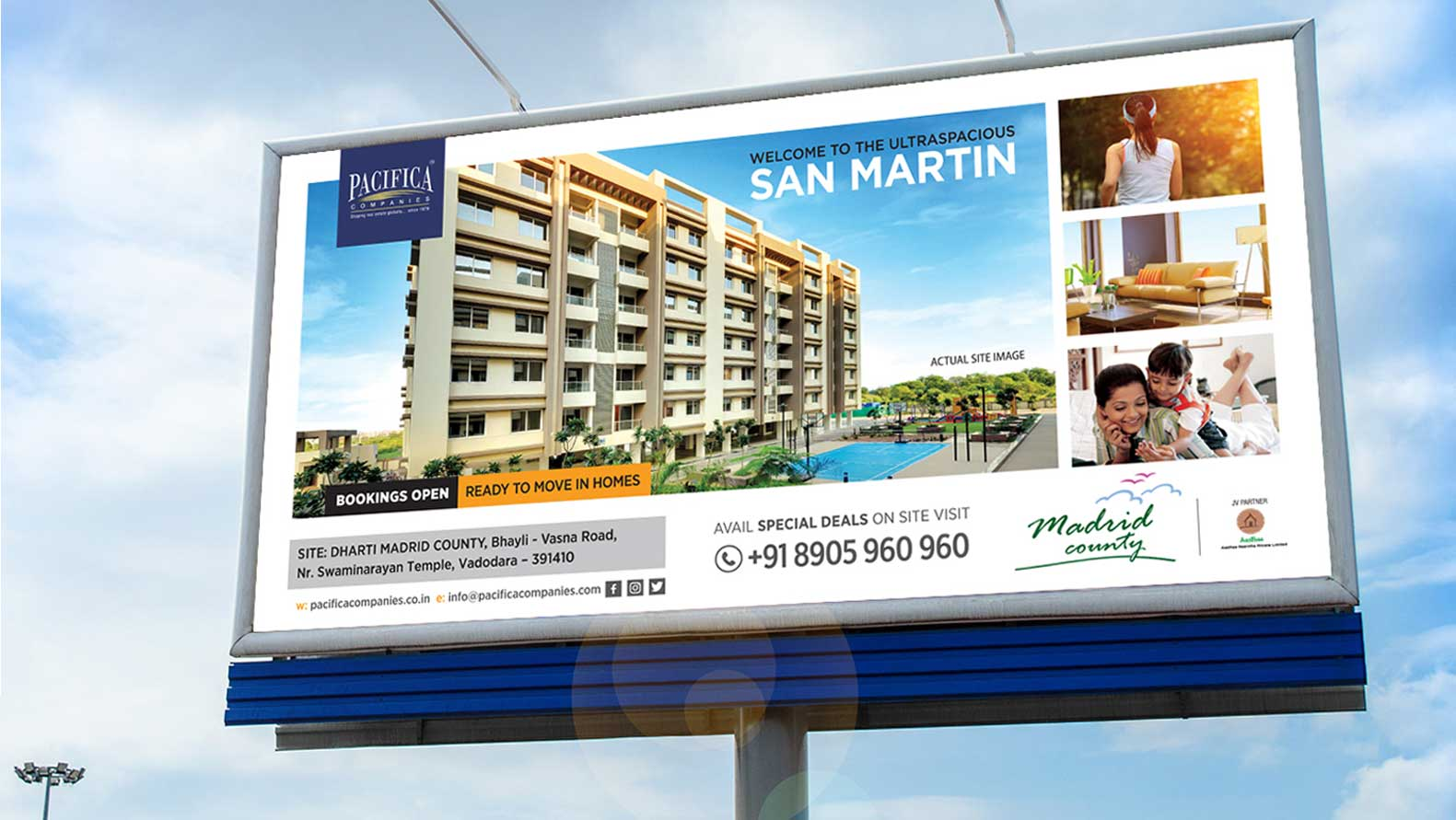 building complex adversting outdoor 3d rendering