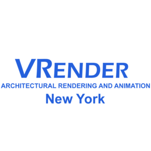 Vrender 3d architectural rendering Company logo 2021
