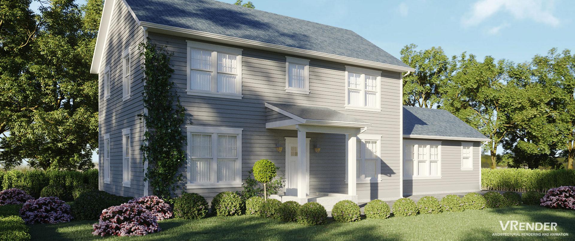 Vrender Architectural 3D rendering Services