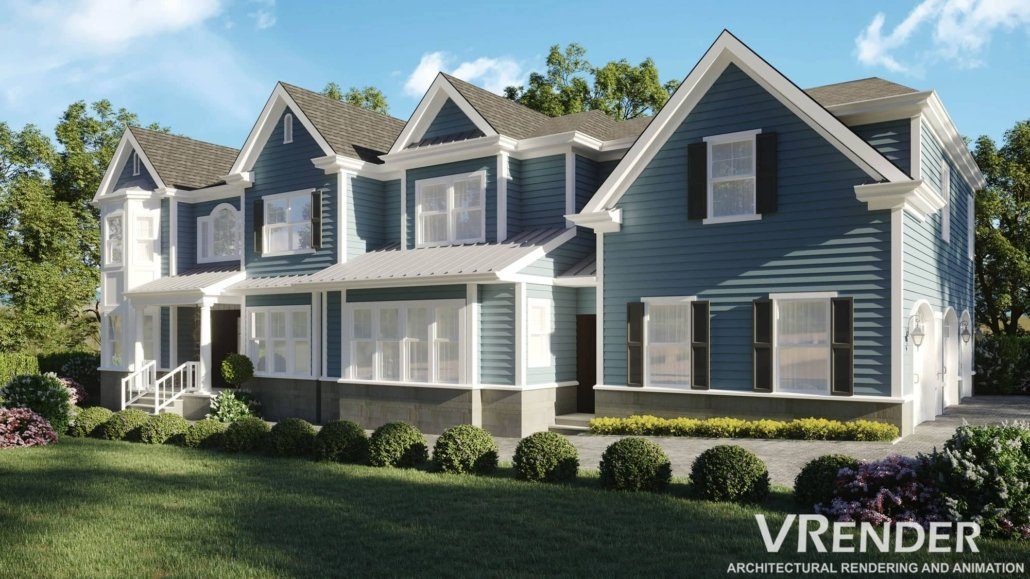 residential building 3d rendering services