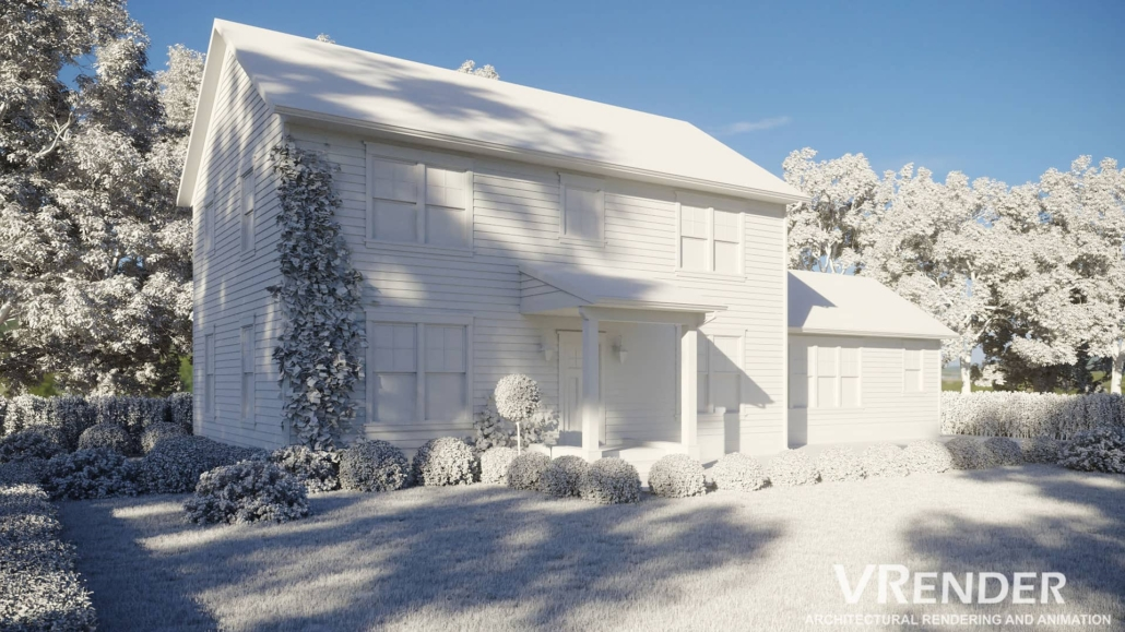 Photorealistic exterior 3d render
